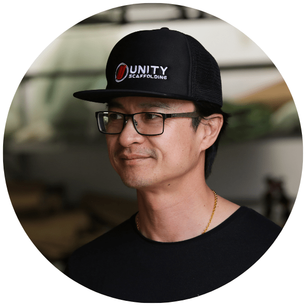 Chanh Huynh, Director of Unity Auckland, an Auckland scaffolding company
